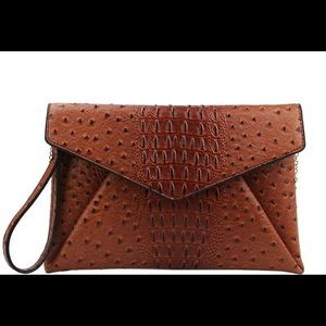 Handbags - Faux Leather Envelope Clutch